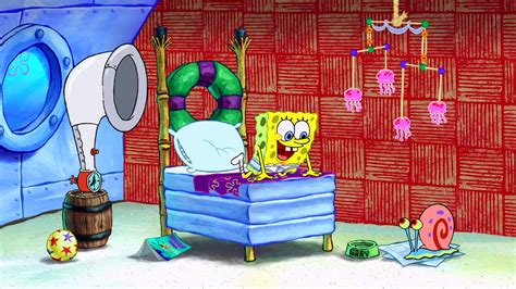 spongebob in bed spongebob s bedroom encyclopedia spongebobia fandom