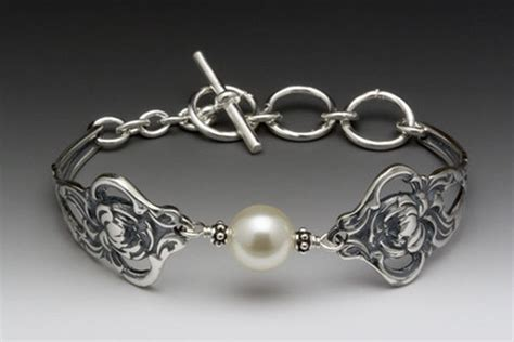 how to make silver spoon jewelry silver spoon verona toggle bracelet with swarovski pearl