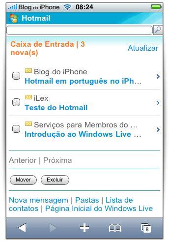 imagenes para perfil hotmail microsoft adapta seu site do windows live para o iphone os