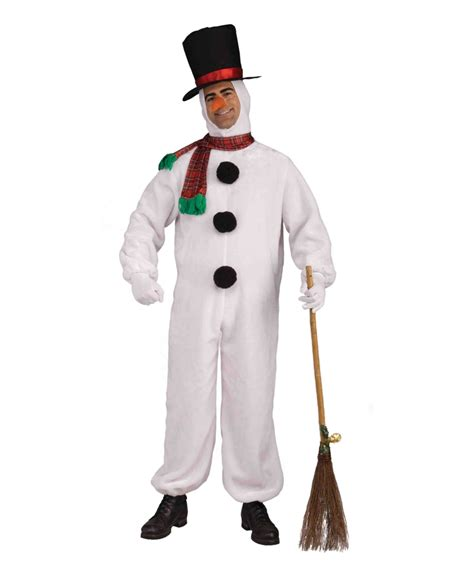 adult snowman plush costume men halloween costumes