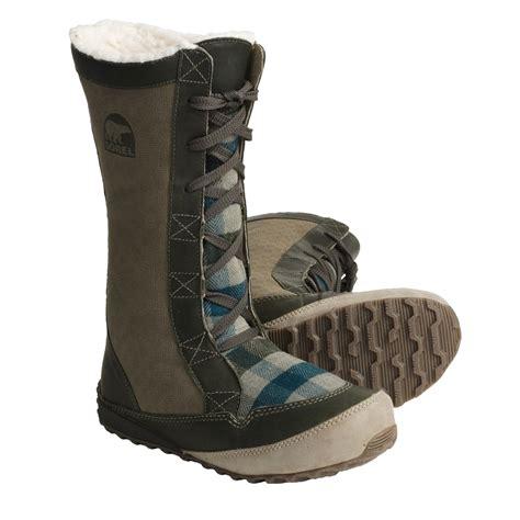 boots for winter sorel mackenzie lace snow boots fleece