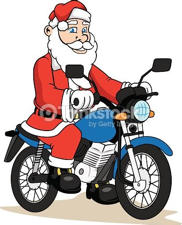 santa on a motorcycle santa claus on a motorcycle vector thinkstock