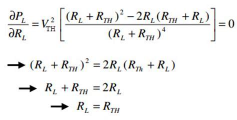 load resistor equation maximum power transfer theorem for ac dc circuits