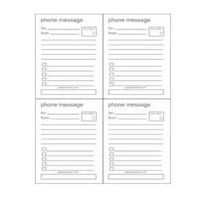 Phone Message Template phone message template 21 free word excel pdf