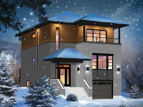 modern 2 story contemporary house plans 2 story house
