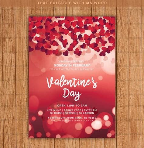 10 valentine s day invitation templates psd vector