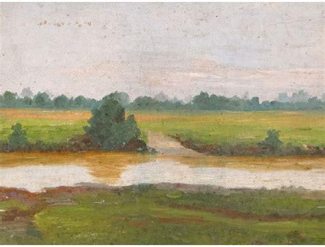 HST tableau paysage campagne bord Loire painting XIXème siècle