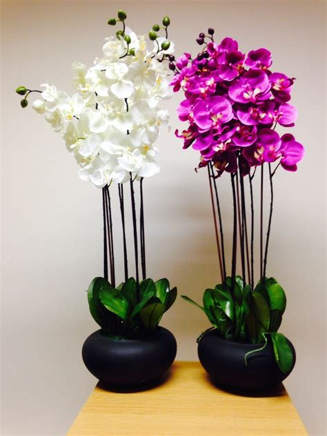 artificial house plants artificial potted plant 84cm extra large white orchid in a pot house office indoor