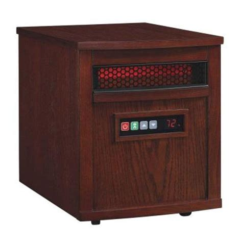 duraflame 1500 watt electric infrared quartz heater cherry