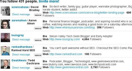 biography list shortener greasemonkey scripts for social media marketers search
