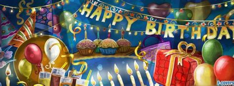 cartoon birthday party facebook cover timeline photo