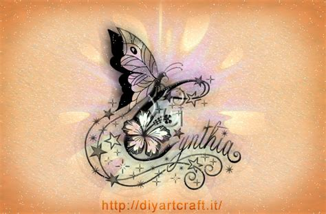 stile lettere tatuaggi 12 nomi femminili stile elegante diyartcraft