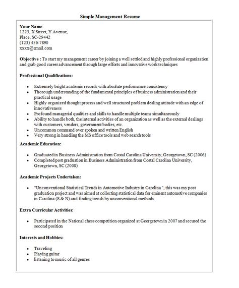 free easy resume templates simple resume template 46 free sles exles