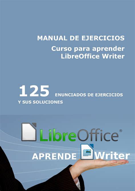 manual de percepciones cjf 2016 curso libreoffice writer