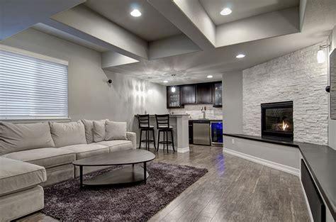 poplarway basement sofa fireplace bar finished basement