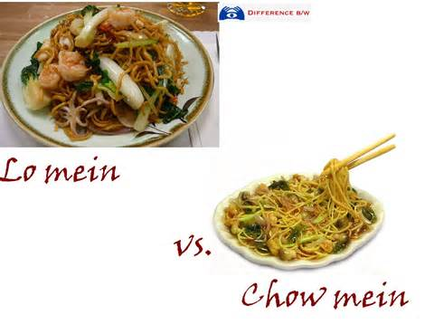 connection between lo mein and chow mein difference between