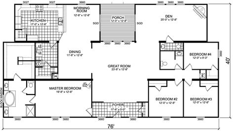 wide mobile home floor plans manufactured home