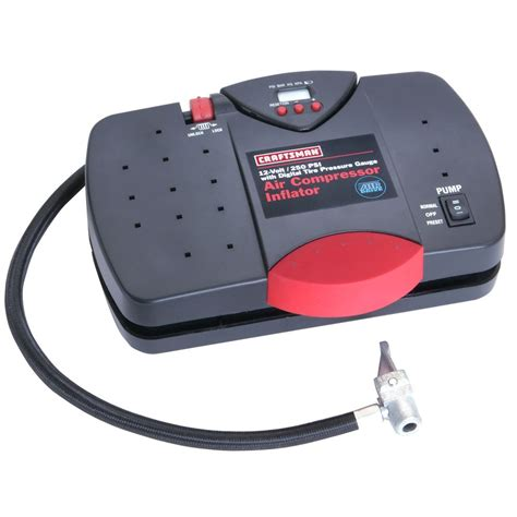 craftsman  portable inflator  digital tire pressure gauge