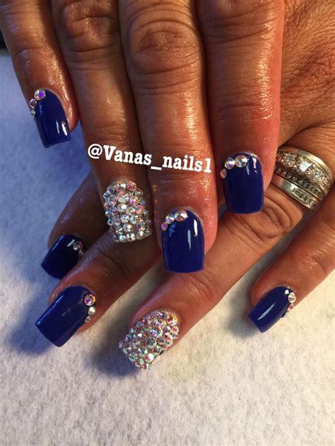 imagenes de uñas acrilicas azul rey las 25 mejores ideas sobre u 241 as acrilicas azules en