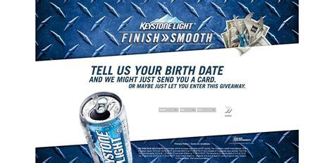Keystone Light Sweepstakes - finishsmooth com keystone light finish smooth promotion