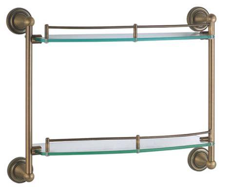 Bronze And Glass Bathroom Shelf Modern Bathroom Glass Shelf Sanliv Bathroom Accessories