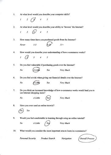 Shopping Online Questionnaire E Learning Questionnaire Template