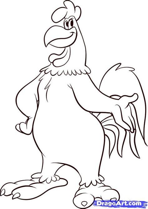 how to draw foghorn leghorn step by step