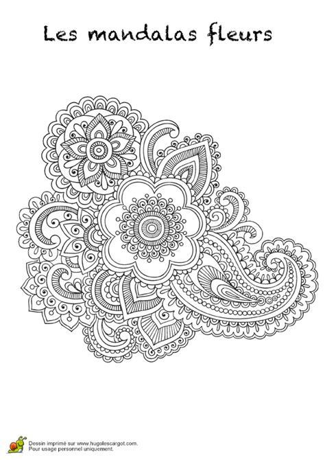 Coloriage Les Mandalas Fleurs Sur Hugo 14 Sur