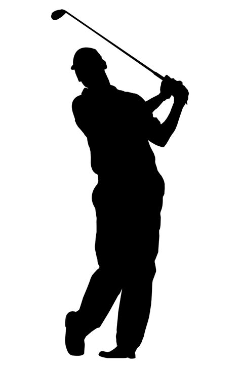 golf swing vector golf silhouette clipart