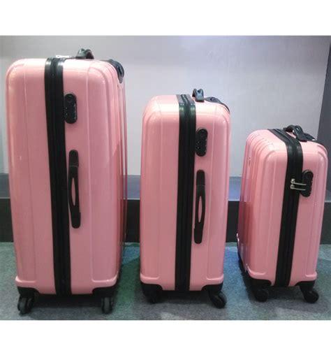 Goedkope Koffers by Hoge Kwaliteit Roze Schattige Polycarbonaat Pc 4 Wielen