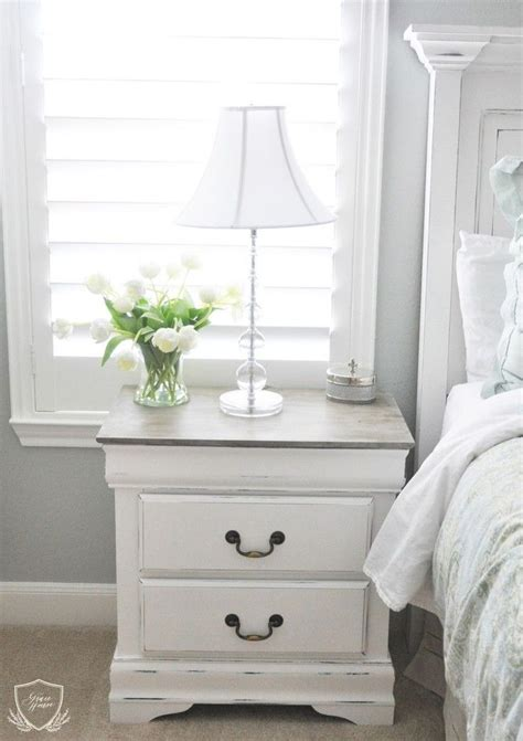 painting bedroom furniture white 25 best ideas about refinished nightstand on pinterest
