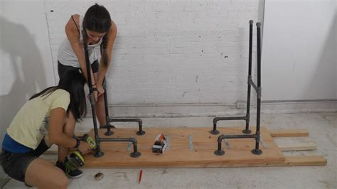 steel pipe standing desk diy plumbers pipe standing desk