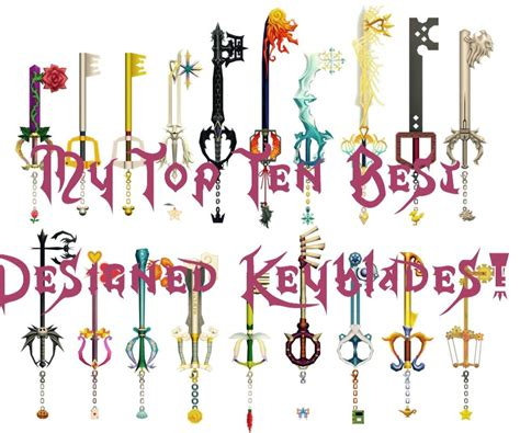 best keyblade in kingdom hearts my top ten best designed keyblades amino