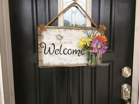 Welcome Signs For Door by Front Door Welcome Sign Front Porch Welcome Sign Rustic Wood