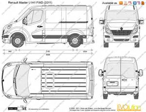 Renault Master L1h1 The Blueprints Vector Drawing Renault Master L1h1 Fwd
