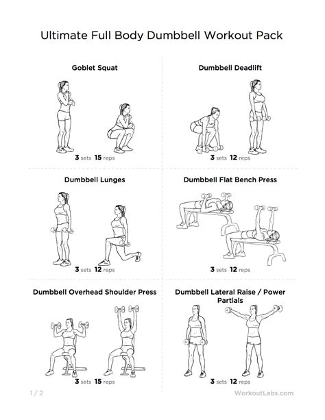dumbbell workouts for fitness