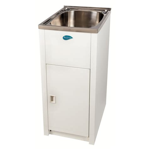 Laundry Tubs With Cabinet by Everhard 30l Nugleam Mini Laundry Trough And Cabinet