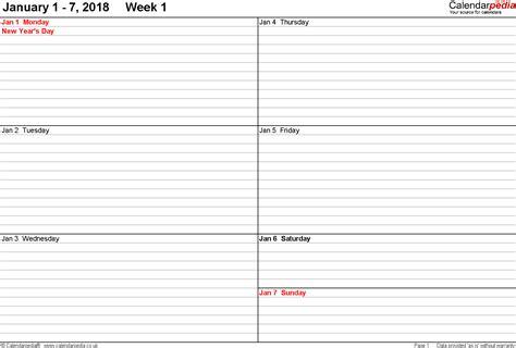 weekly calendar template 2015 kays makehauk co
