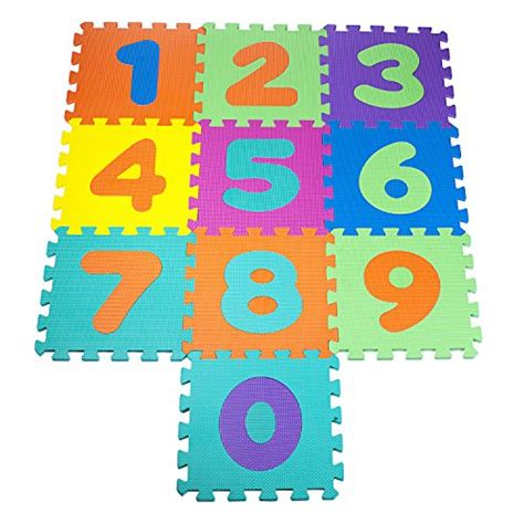 Funplay Alphabet Play Mat by Colorful Foam Play Mat Numbers Puzzle Set Of 10 Connecting