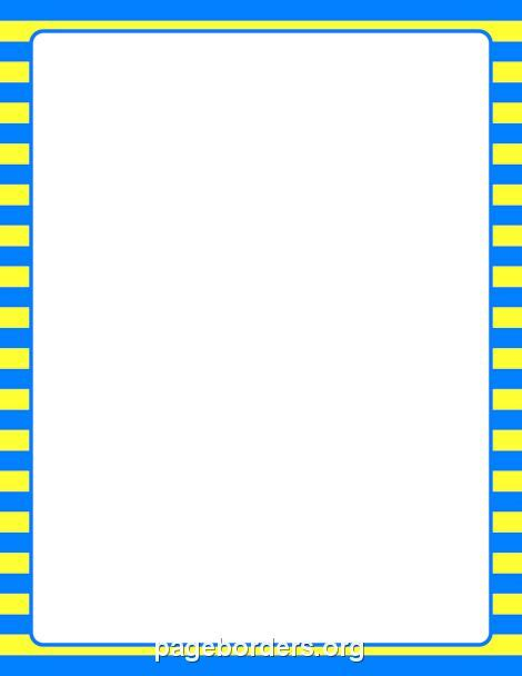 printable blue striped border use the border in printable blue and yellow striped border use the border in microsoft word or other programs for