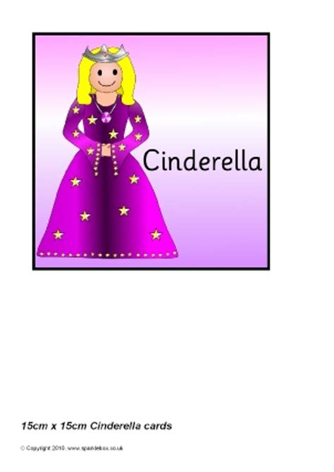printable version of cinderella cinderella teaching resources story sack printables