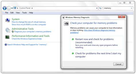 ram diagnostic tool windows 7 windows memory diagnostics tool in windows 7 windows