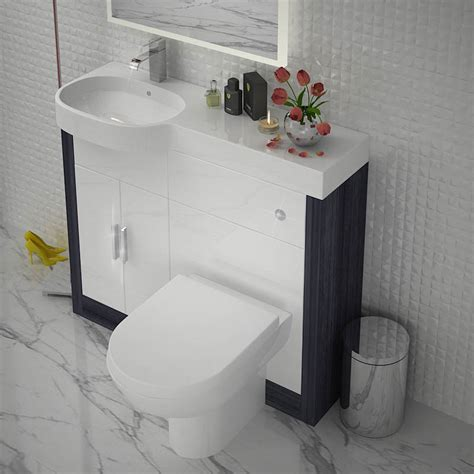 Combined Bathroom Vanity Units by Hacienda 1000 Combination Vanity Unit Colour Options Lh