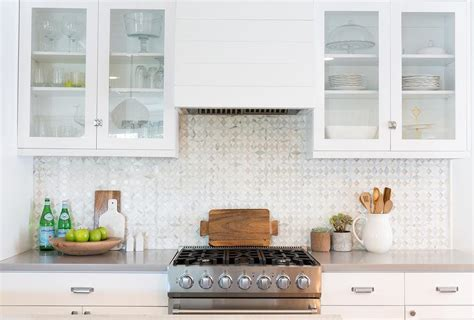 white mosaic tile backsplash gray mosaic kitchen backsplash tiles design ideas