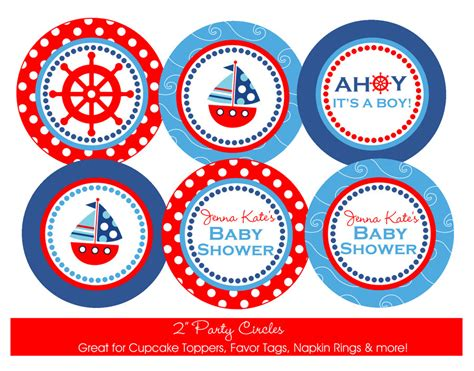 nautical baby shower free printables nautical baby shower printable circles diy by