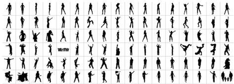 vectores de siluetas completamente gratis recursos photoshop m 225 s sets de vectores de siluetas de personas y brushes