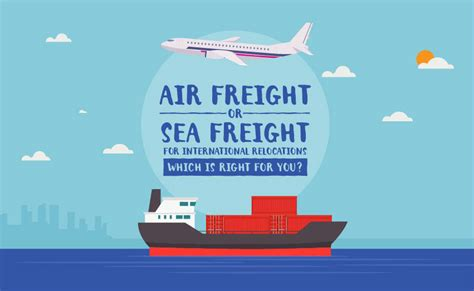 air freight vs sea freight for international relocations