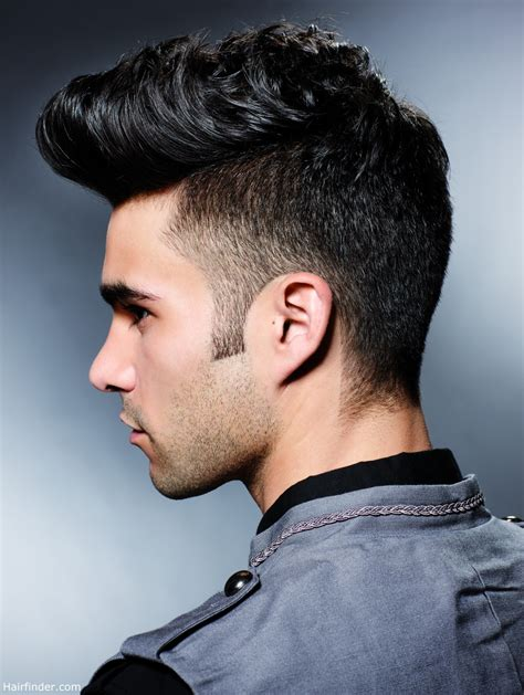 male asian hairestyles front and back veiws side view of a fifties hairstyle with a quiff