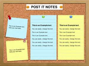 Post It Template by Post It Note Charts Powerpoint Template Charts Post It