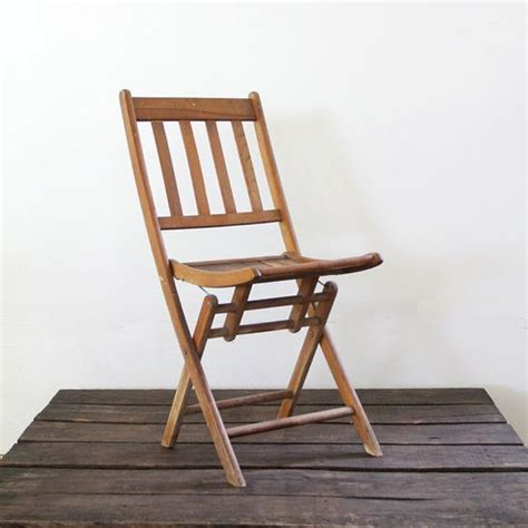 Wooden Folding Chairs For Sale by Vintage Wood Folding Chair C Chair Slat Wood Chair